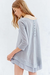 Kimchi And Blue Kimchi Blue Button Down Her Back Tunic Top Grey