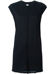 Damir Doma Ribbed Detail Long Tank Black