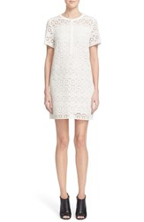 Women's Burberry Brit Eyelet Lace Shift Dress