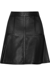 Belstaff Brompton Perforated Leather Mini Skirt Black