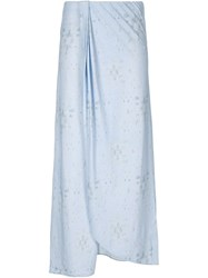 Baja East Long Wrap Skirt Blue