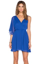 Sam Edelman Asymmetrical Deep V Dress Blue