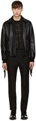 Givenchy Black Fringed Aviator Jacket