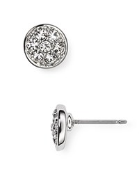 Lauren Ralph Lauren Pave Stud Earrings Silver