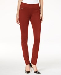 Inc International Concepts Pull On Skinny Pants Only At Macy's Burnt Pepper