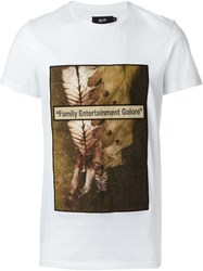 Blood Brother Print T Shirt White