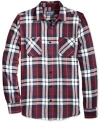 American Rag Men's Gio Flannel Shirt Only At Macy's Dark Scarlet