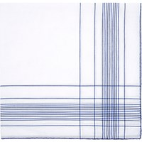 Simonnot Godard Men's Fine Striped Handkerchief No Color