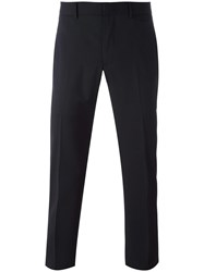 Z Zegna Slim Fit Tailored Trousers Black