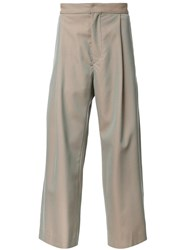 H Beauty And Youth. Wide Leg Chinos Green