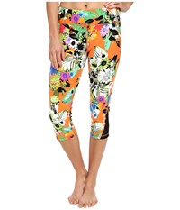 Trina Turk Pop Floral Mid Length Leggings Multi Women's Workout