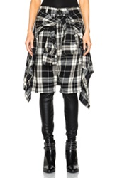R 13 R13 Vedder Pants In Plaid In Black Checkered And Plaid