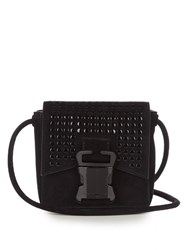 Christopher Kane Bonnie Mini Suede Cross Body Bag Black