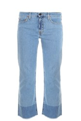 Victoria Beckham Cropped Jeans Blue