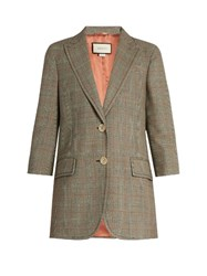 Gucci Prince Of Wales Checked Jacket Black Multi