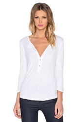Velvet By Graham And Spencer Candiss Cotton Slub Button Up 3 4 Sleeve Top White
