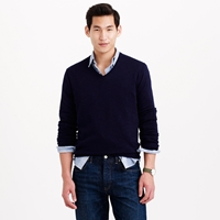 J.Crew Rugged Cotton V Neck Sweater