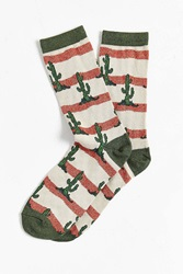 Urban Outfitters Cactus Sock Brown