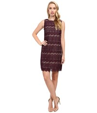 Christin Michaels Rocco Mia Dress Purple Nude Women's Dress Brown