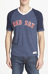 Men's Mitchell And Ness 'Boston Red Sox' V Neck T Shirt