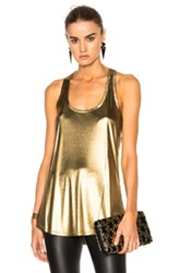 Alexandre Vauthier Jersey Top In Metallics