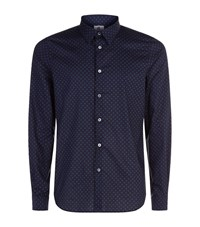 Paul Smith Ps By Tailored Fit Yin Yang Print Shirt Male Navy