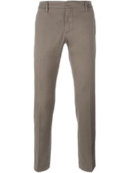 Dondup Straight Chino Trousers Nude And Neutrals