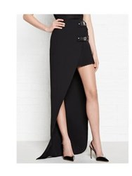 Versus By Versace Versus Versace Open Front Long Skirt Black