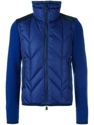 Moncler Grenoble Padded Front Knitted Cardigan Blue