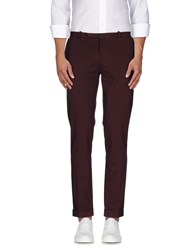 Paolo Pecora Trousers Casual Trousers Men Deep Purple