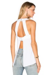 Bcbgmaxazria Open Back Tank White
