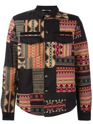 Valentino Geometric Shirt Jacket Black