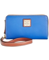 Dooney And Bourke Zip Around Carryall Wristlet French Blue