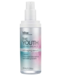 Bliss The Youth As We Know It Serum 1 Oz.