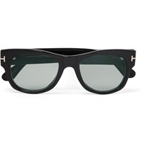 Tom Ford D Frame Horn Photochromic Sunglasses Black