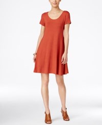 Styleandco. Style Co. Short Sleeve A Line Dress Only At Macy's Sienna Orange
