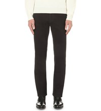 Brioni Stretch Regular Fit Straight Jeans Black