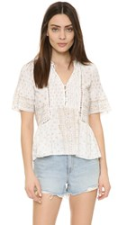Saylor Bohemian Shirt Gold Cream