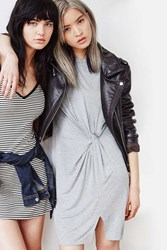 Silence And Noise Side Knot T Shirt Dress Grey