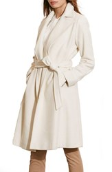 Lauren Ralph Lauren Women's Wool Blend Wrap Coat New Moda Cream