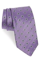 J.Z. Richards Men's Geometric Silk Tie Purple