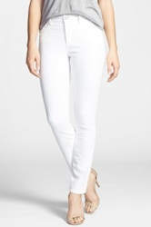 Nydj Jade Stretch Corduroy Skinny Pants White