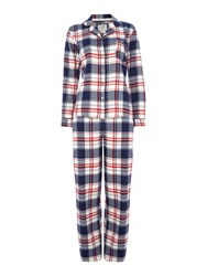 Dickins And Jones Winter Check Pj Set Navy