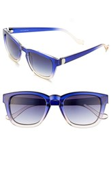 Women's Ivanka Trump 50Mm Keyhole Sunglasses Indigo