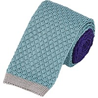 Penrose London Men's Knit Reversible Tie Purple
