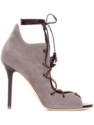 Malone Souliers 'Savannah' Lace Up Sandals Grey