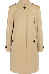Burberry London Lanebridge Cotton Gabardine Trench Coat Sand