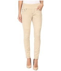 Jag Jeans Nora Pull On Skinny Freedom Colored Knit Denim In Desert Desert Women's Beige