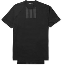 Y 3 Printed Cotton Jersey T Shirt Black