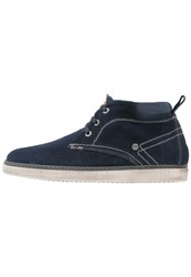 Wrangler Billy Hightop Trainers Navy Blue